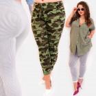 EM89 Femme Pantalon, Motif Rayures et Moro,