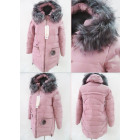 E3 Winter Women Jacket, Pompon, Plus Size, Pink