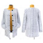 Flauschige Strickjacke für Frauen, Mantel, M-2XL,