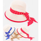 B10A68 Openwork Hat with Ribbon, Audrey Style
