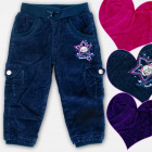 A19182 Pantaloni per bambina isolati, Velluto a co