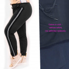 Women's sports pants, stripes, M - 4XL, 5715