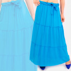 C17692 Women Maxi Skirt, Belt, Summer Colors