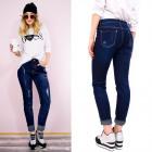 B16666 Beautiful Jeans avec patchs, bleu classique