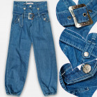 A19217 Jeans Pants Filles, 6-14 ans