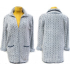Fluffy Cardigan With Collar, M-2XL, 5133