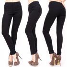 B16587 Ladies Treggins, Black Jeans, Classic Line