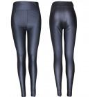 4476 Damskie Spodnie Ze Skóry, Black, Sexy Chic