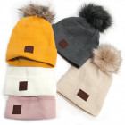 Warm Women Cap, Hat, Pompon and Fleece, 5098