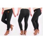 4293 Women Leggings, Plus Size Pants, Bamboo Black