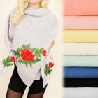 FL559 Delicate Scarf, shawl, Romantic Rose