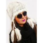 A1248 Furry Woman Cap with Fleece, Indian Style