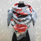 A1820 Large Scarf, Plaid, Warm Knitwear, Flowers
