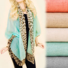 C17291 Large Shawl, Scarf, Nice Colors, spotted