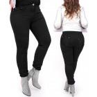 B16783 Black Classic Women Pants, Plus Size, Jeans