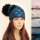 FL635 Effective Warm, Women Cap, Hat, Peacock