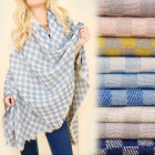 C17286 Beautiful Shawl, Plaid, Woolen, Lattice