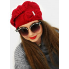 A1264 Beautiful Womens Cap with Bow, Beret