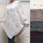 Damenponcho mit Ärmeln, warmer Pullover B10A