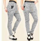 4423 Loose Sweatpants, Latex and Buttons