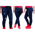B16782 Jeans Pants, Beautiful Holes, Plus Size