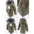 E30 Winter Womens Jacket, Drawstring, Faux Fur, Kh