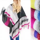 B16599 Warm Shawl XXL, Winter blancket, Thick Knit