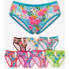 4352 Bamboo Women Panties, Roses Pattern, M-2XL