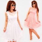 BI795 Lace Dress, Flared, Frills