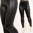 4712 Women Leggings, Latex Pants, Black