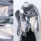 Winter Scarf, Shawl, Plaid Pattern, A1845