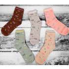 SOF03 Cotton Womens Socks, Elephants, 35 - 38