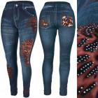 Leggings Women's Jeans, Jets, Flames C17732