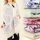 FL294 FINE SCARF, bedspread, floral design