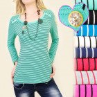 D2618 DAILY TOP, BLUSE, GOLDKNÖPFE, BOOT