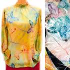 Women Blouse, UNI, Romantic Butterflies, D14127