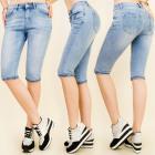 B16539 Shaded Short Jeans, Ladies Shorts