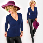 M05 Soft Cardigan with Wool, V-neckline, Everyday
