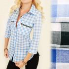 BI521 Dreamlike Shirt, Tunic, Decorative Zippers