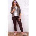 B16678 Jeans classiques pour femmes, pantalon brow