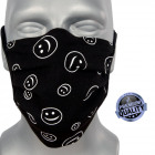 Schutzmaske, schwarz, Lächeln, Träger, D5809