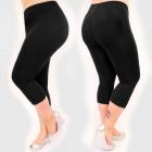 Bamboo leggings 3/4, Sporty Black L - 5XL, 6429