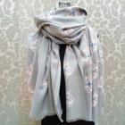A1831 Large Scarf, Plaid, Warm Knitwear, Flowers