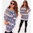 4428 Elegant Plus Size Tunic, Spring Pattern