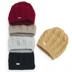 Warm Women Cap, Hat, 2 layers, Braids, 5093