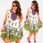 C17708 Women Plus Size Dress, Hippie Style