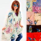FL709 Spacious scarf, shawl, hummingbirds