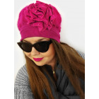 A1270 Women's Cap with Angora, Beautiful Rose
