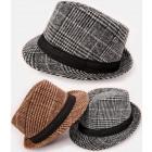 A1260 Mens Checkered Hat, Decorative Strap