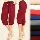 FL469 Loose Pants, Pumps, Harems, cotton Knit